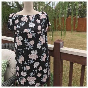 Love Fire Black Floral Print Dress